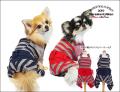 2019クークチュール秋冬新作 テラヘルツワン・サイド開きボーダーカバーオール(2色)12276[犬服]