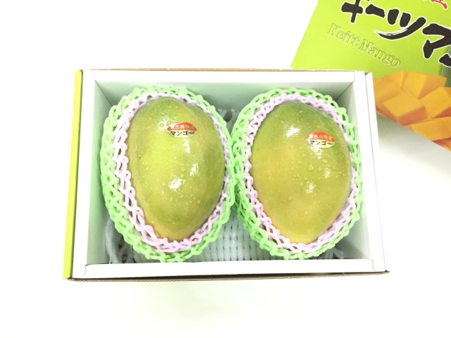 沖縄県産キーツマンゴー1.2Kg 2玉入り(出荷時期8月25日~9月25日)