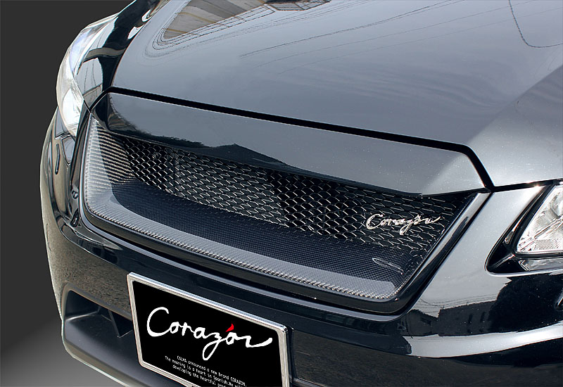 CORAZON フロントグリルタイプS (カーボン)【未塗装】インプレッサ&XV GP/GJ(A型〜) 専用