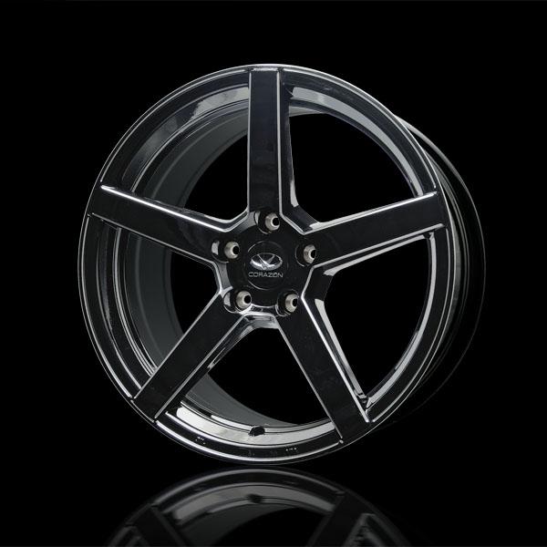 CORAZON アロイホイール MC5 ブラックカット+ホイールアーチトリム色付(1台分セット)