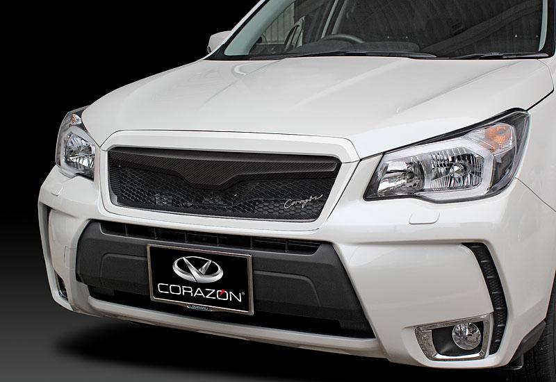CORAZON フロントグリルタイプS(カーボン)【色付き】フォレスター SJ5/SJG 専用