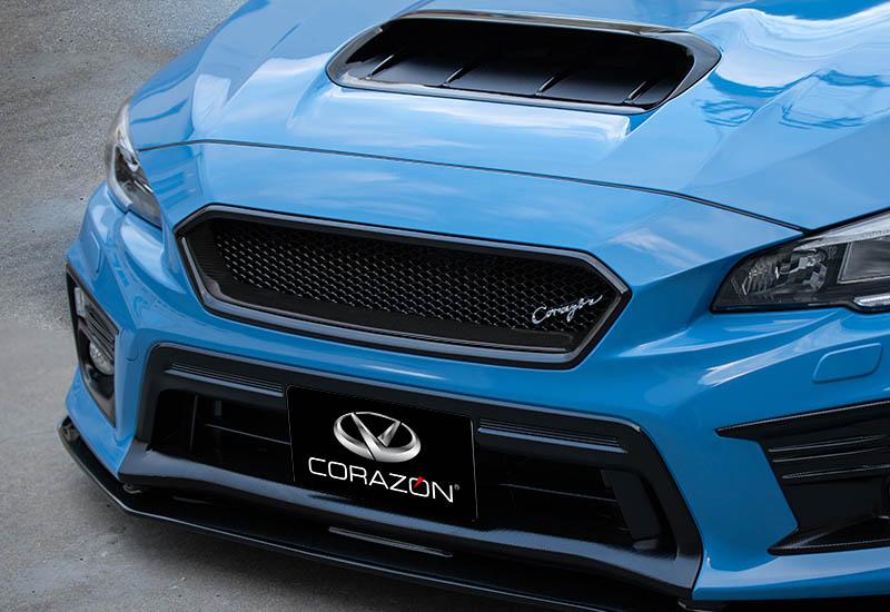CORAZON フロントグリルタイプS(カーボン)【未塗装】WRX STI/S4 VAB/VAG D型専用