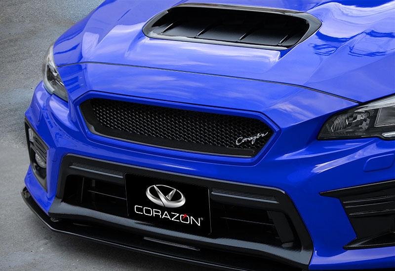 CORAZON フロントグリルタイプS(カーボン)【色付き】WRX STI/S4 VAB/VAG D型専用