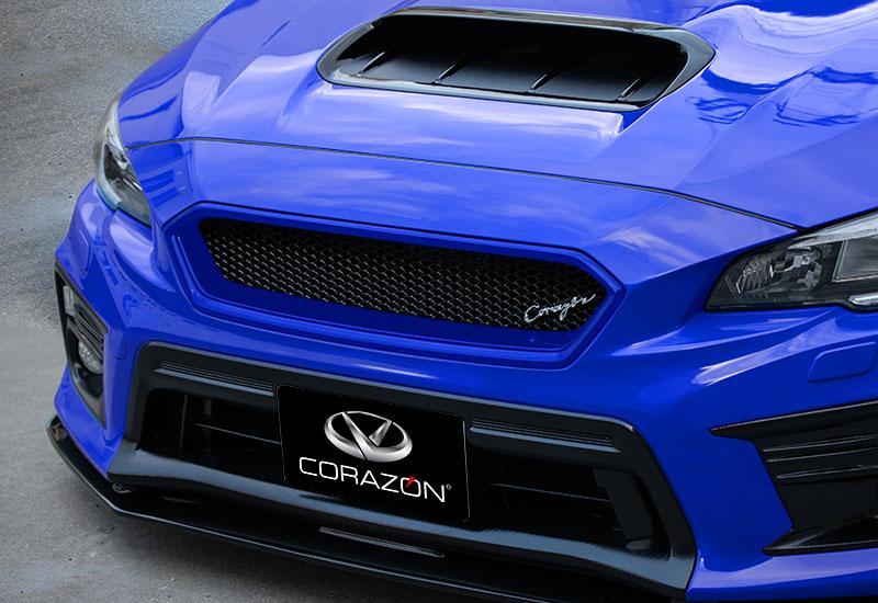 CORAZON フロントグリルタイプS(FRP)【色付き】WRX STI/S4 VAB/VAG D型専用