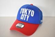 【CUE】TOKYO CITY メッシュ(ブルー×レッド)