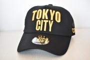 【CUE】TOKYO CITY メッシュ(黒×ゴールド刺繍)
