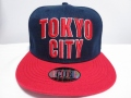【CUE】TOKYO CITY (ネイビー×赤×赤刺繍)