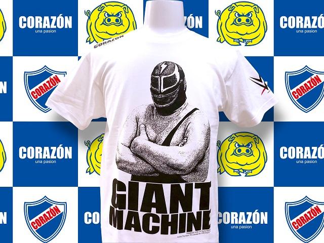【WWE】ジャイアント・マシーン×コラソン Tシャツ(ホワイト)
