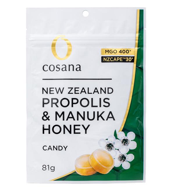 NZ産プロポリス入りマヌカハニーMGO400+ キャンディ 【ネコポス便可】
