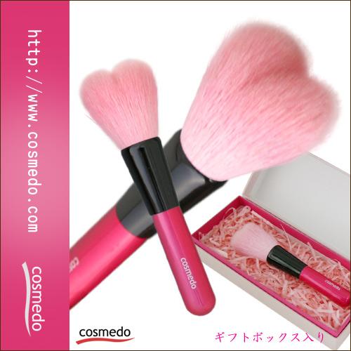熊野筆ハート型化粧筆(メイクブラシ)