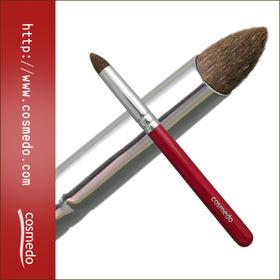 熊野筆ショートタイプ赤軸シリーズ とんがりアイシャドウブラシ(丸尖)馬毛100%