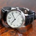 【時と共に価値が増す本物で上質な高級機械式腕時計】 THE SPQR (手巻パワーリザーブ/アイボリー・ブラック文字盤)×最高級濃紺クロコダイル