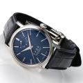 【時と共に価値が増す本物で上質な高級機械式時計】 THE SPQR   Classico (手巻パワーリザーブ/バーインデックス/シルバー・ネイビー文字盤)×4タイプのバンドの組合せ自由