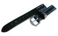 【馬具職人手縫!4mm厚のブライドルレザーにドイツ有名馬具メーカーの金具を装備!】最高峰SOMESブライドルレザー・ブラックバンド 18mm幅・20mm幅 青ステッチ