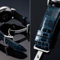 【 あらゆる高級腕時計との相性も抜群  4mm厚の高級感 と 高い耐久性で納得の品質 】  18mm・20mm 濃紺グレージング仕上・ 最高級クロコダイル × SSミラー仕上Uタイプバックル