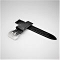 【SPQRオリジナル  SOMESサドルレザー・ブラック×パネライ向けバックル Fish Tail  Buckle・サテン・シルバーまたはブラックから選択 20mm】   試作プロト品