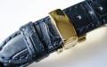 【あらゆる高級腕時計との相性も抜群!!4mm厚の素晴らしいクオリティー感と耐久性で納得の品質!】オイルマット仕上 最高級クロコダイルベルト(18mm 20mm幅)SSミラー仕上+ゴールドIP