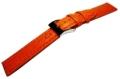 シャーク型押し高級レザー18mm(オレンジ)  残り1本のみ