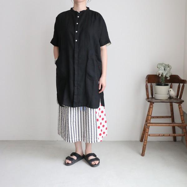 02S-10 快晴堂 サマーリネン アトリエ半袖シャツ