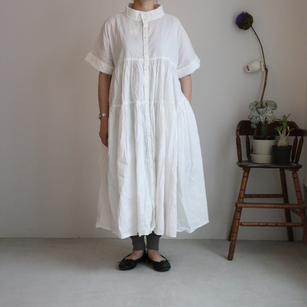 G494 Gauze# ティアードワンピースドレス