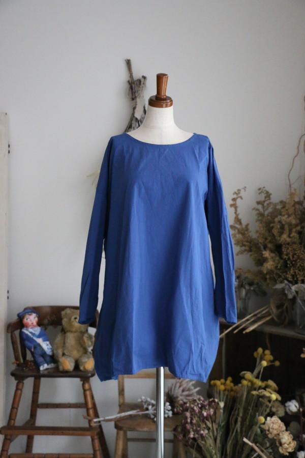 ST084 veritecoeur プレーンチュニック BLUE