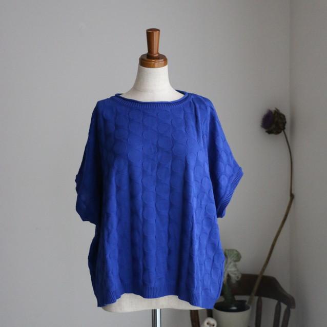 048M037163 marble SUD EMB Dot knit BLUE