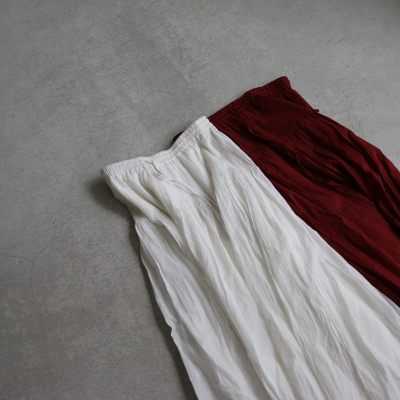 nmds17573 maison de soil  organic stripe mini pintuck flarede skirt  2色