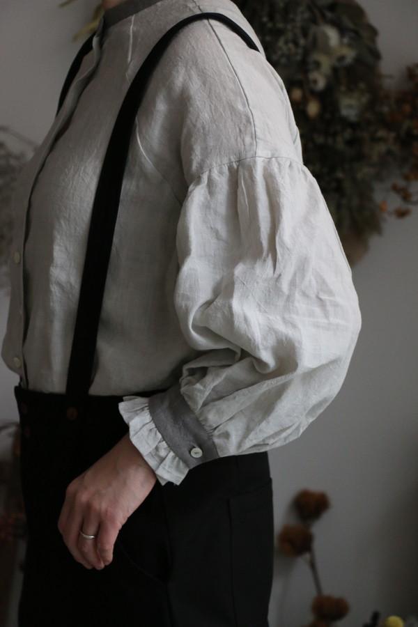 BL137 MAGALI ファナージュリネンフリル袖ブラウス 3色