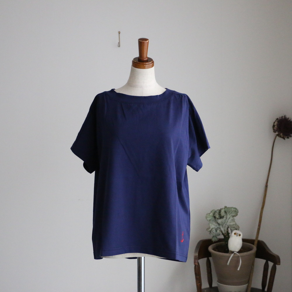 11C-27 快晴堂 Girl's天竺 半袖ギャザーTシャツ 3色