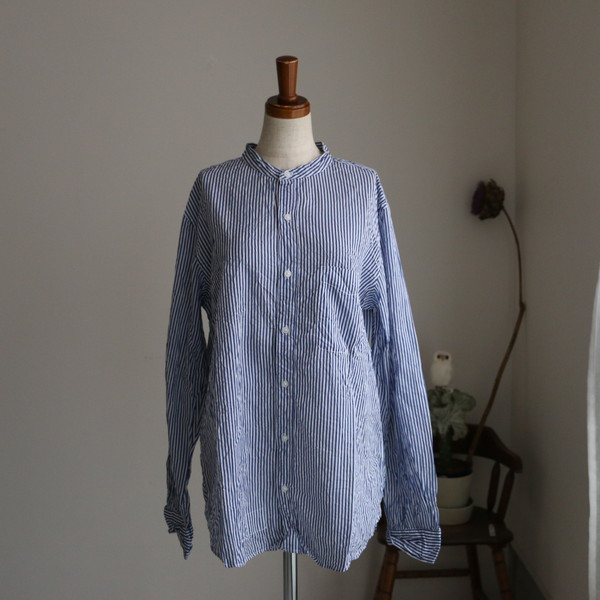NVL1601SW Vas-y Lentement Band Collar Shirt