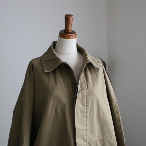 NHT2051HTS cotton balmacaan coat