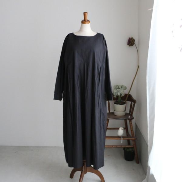 NMDS18522maison de soil organic poplin  inverted pleats p/o dress