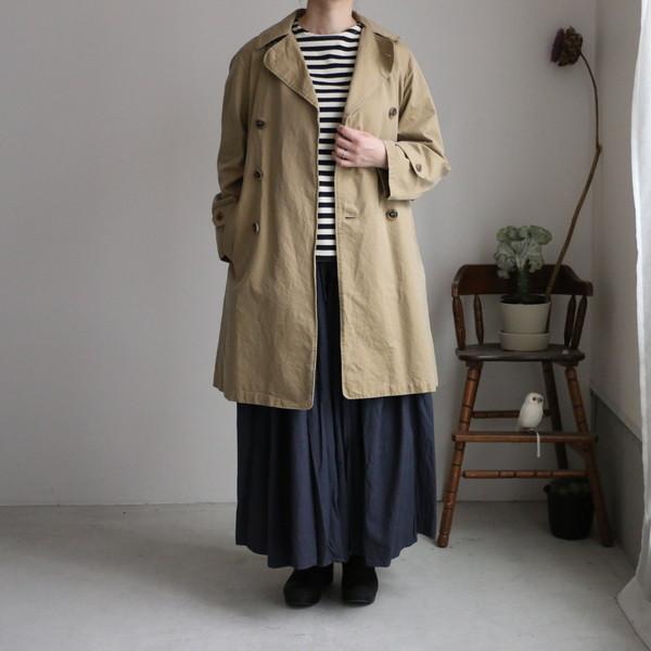 NMPA1701ST ARMEN  double breasted coat 840M d.beige