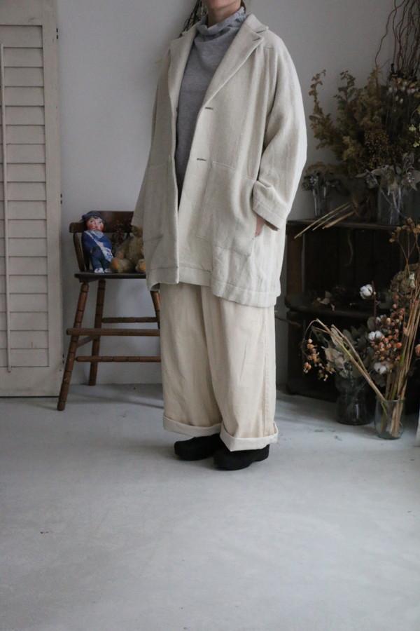 13416691 vlas blomme Cape Coat 2色