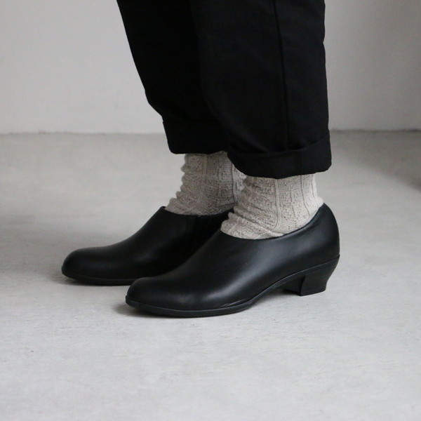 TR-012 chausser TRAVEL SHOES スリッポンシューズ BLACK