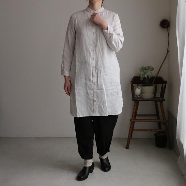 LWA253 fog linen work クレータロングシャツ