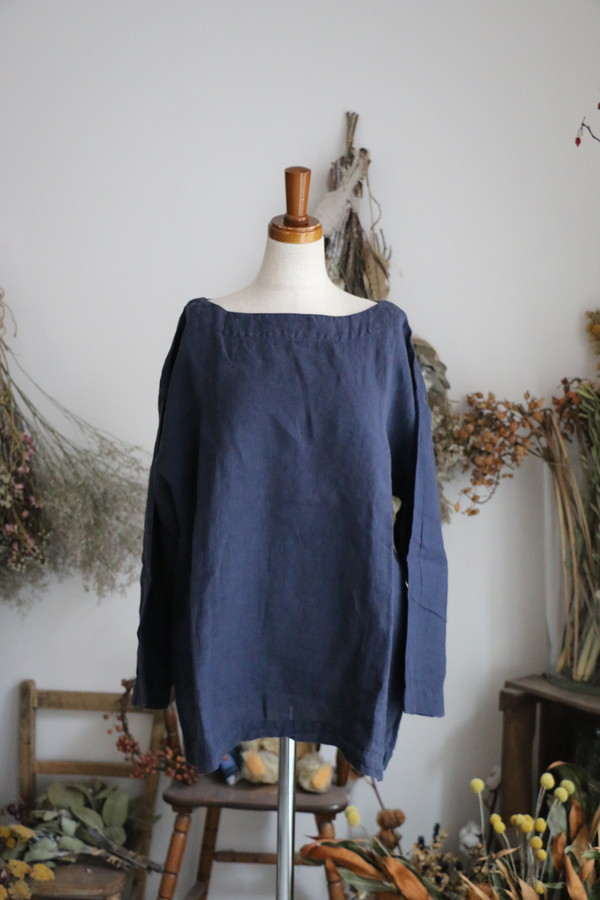 NAM-1463LP ARMEN boat neck 3/5SL shirt 2色