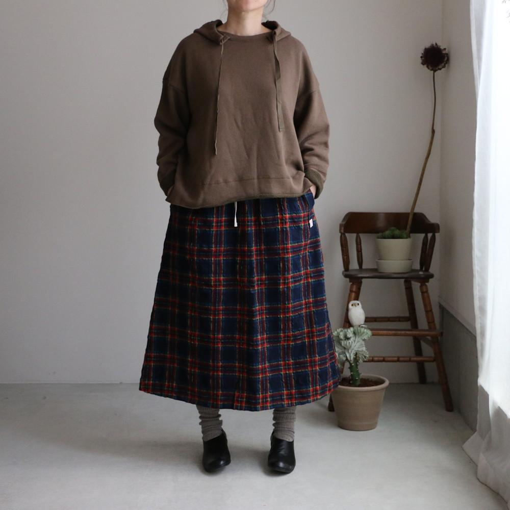 03SK05 快晴堂 タータンフォーエバー イージースカート ネイビータータン