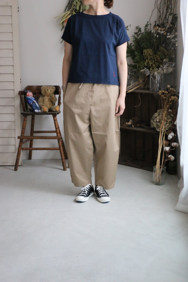 <SALE>92C-36 快晴堂 イカリ刺繍TEE 2色