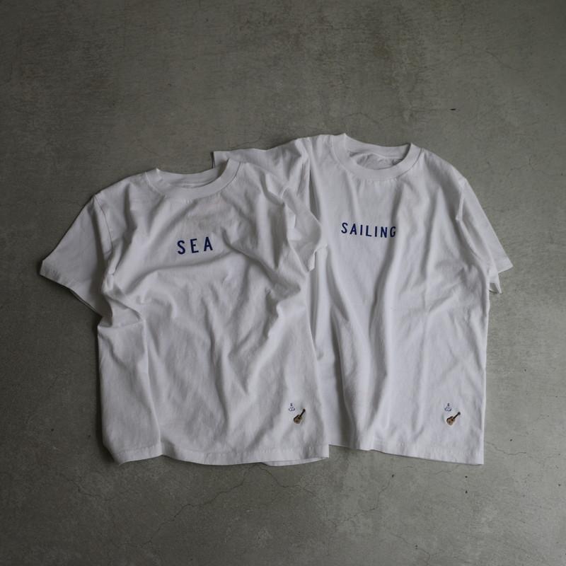11C43G 快晴堂 海上がりUNI-Tシャツ 白