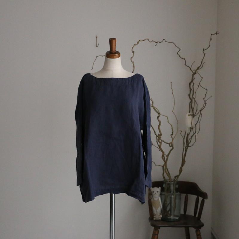NAM-1463LP ARMEN boat neck 3/5SL shirt 3色