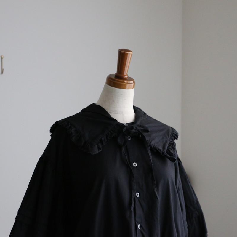 FC022 veritecoeur 衿付きパフスリーブワンピース