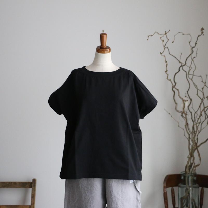 12C13 快晴堂 Girl's天竺 半袖ギャザーTシャツ