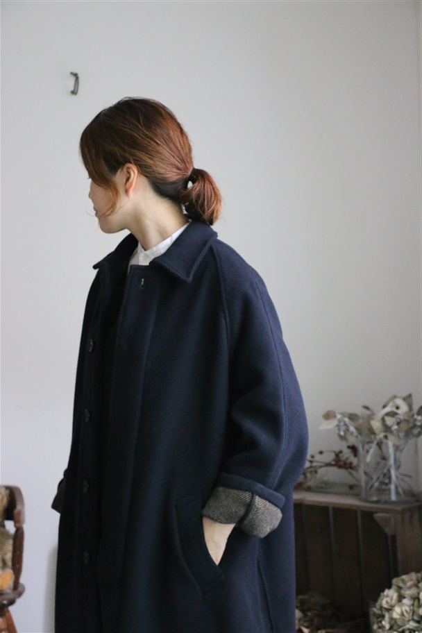 NHT1551wd HTS WOOL DOUBLE FACE BALMACAAN coat 2色