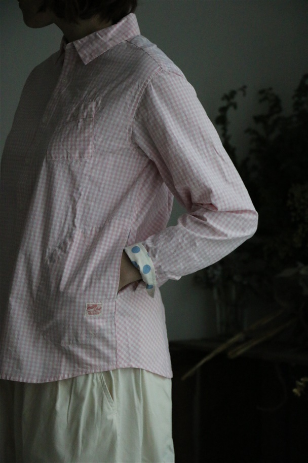 91S-51G 快晴堂 ギンガムフォーエバー UNI SHIRT 2色
