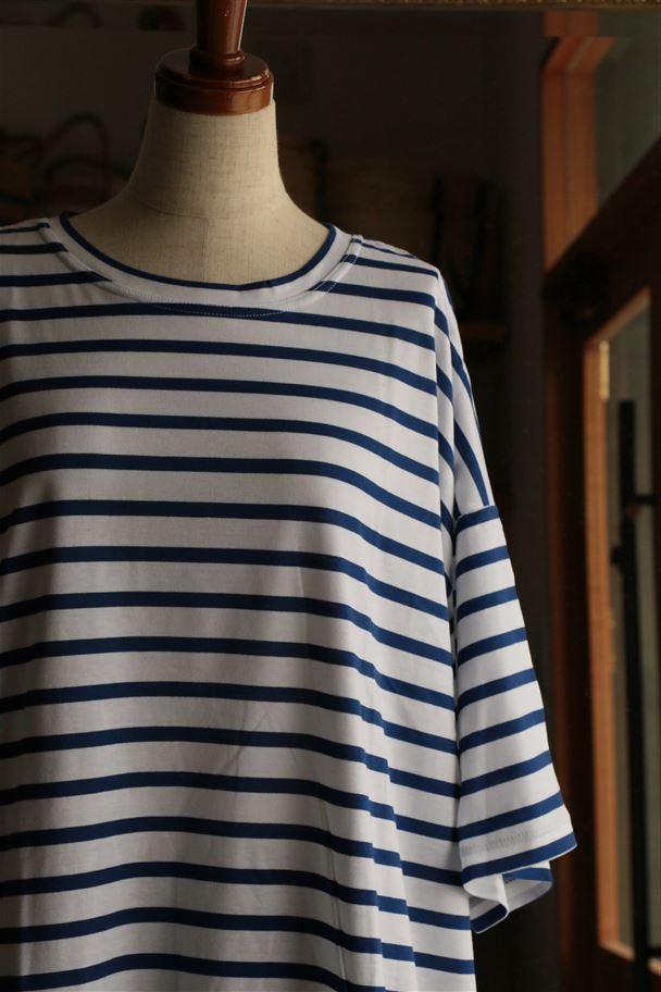 <SALE>N-1504 si si si シルケットコットンボーダーTシャツ