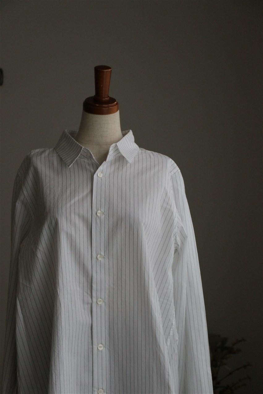 <SALE>LKL15FBL3 kelen Flann ストライプフレアシャツ