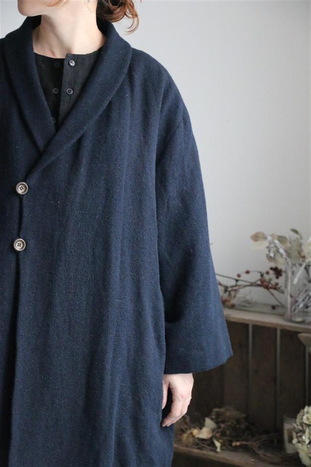 13414881 vlas blomme Comfy Tweed ケープコート 2色