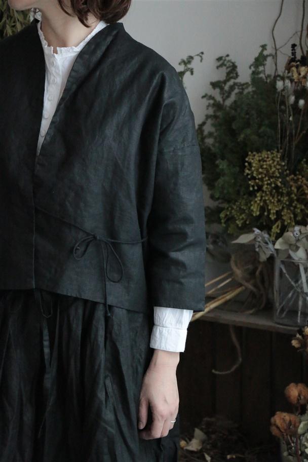 G352 Gauze オリジナルコーティングリネンHAORI ジャケット
