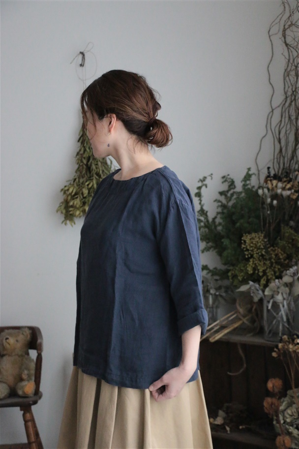 <SALE>NAM1463LP ARMEN boat neck 3/5SL shirt 3色